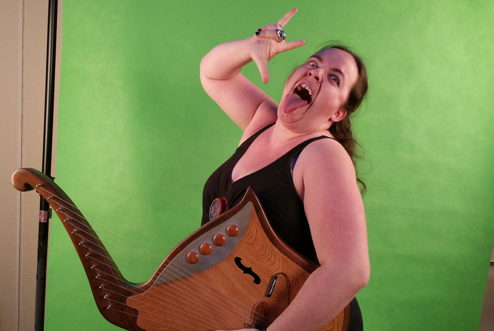 Madwoman with Star Trek Vulcan Lyre from Second Geekhood 2