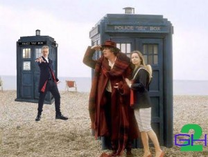 4th & 11th Doctors Ramona on Beach on Second Geekhood