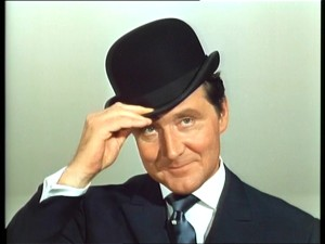 Patrick Macnee as John Steed in The Avengers on Second Geekhood