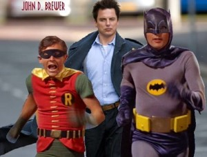 Captain Jack Harkness, Batman, & Robin on Second Geekhood