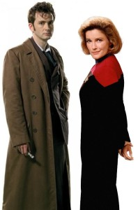10th Doctor & Janeway on Second Geekhood